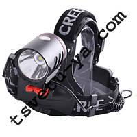 Налобный фонарь с сенсорным выключателем POLICE L-819, T6, 2 аккумулятора