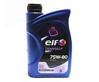 Масло трансмисионное в КПП ELF Tranself NFP 75W80 1L- полусинтетика. Производитель  Elf Франция.