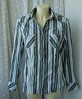 Блузка рубашка женская хлопок жатка батал бренд Gina Benotti р.52-54