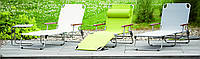 Шезлонг пляжный эксклюзивый дизайн AMIGO серый с деревянными подлкотниками