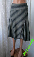 Юбка женская нарядная демисезонная шерсть вискоза бренд Warehouse р.46