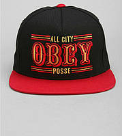 Кепка Obey - 89ears Logo Black/Red