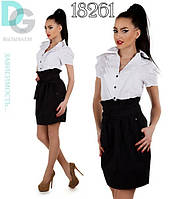 """Стильная деловая юбка """"Тюльпан"""" мод 755"""