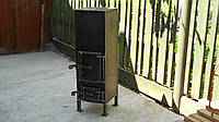 Буржуйка экономичная из металла 3 - 4 мм, для приготовления еды и отопления помещений до 25 м2