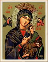 Рисование камнями Икона Пресвятой Богородицы