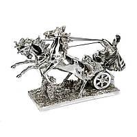Статуэтка лошади запряжённые в боевую колесницу и воин PLS0134Y-13