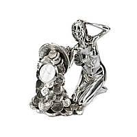 """Часы с символикой греческая богиня """"Фортуна с монетками"""" PLS0206V-6"""