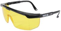 Очки YT-7362 Yato защитные желтые с регулируемыми дужками
