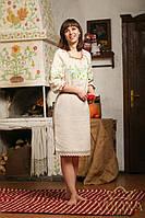 Платье.Вышиванка женская. Ткань – лен 100%  Нить к вышивки – шелковая с экологически чистыми красителями