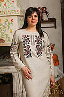 Платье.Вышиванка женская. Ткань – лен 100%