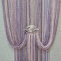Шторы нити с люрексом радуга 09