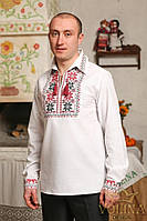 Вышиванка мужская. Сорочка чоловіча, Рубашка мужская. Ткань– домотканая 100% хлопок