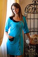 Халат велюровый с вышивкой Ткань – велюр 100% хлопок. Есть разные цвета!