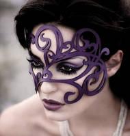 Маска женская кожаная Scappa M 23 Violet