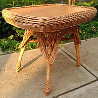 Стол на кухню плетеный