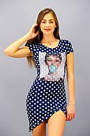 Шанди. Трикотажное платье. Горох.(Р)., фото 1