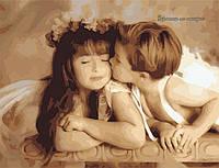 """Картина по номерам """"Нежный поцелуй"""" 40х50 см"""