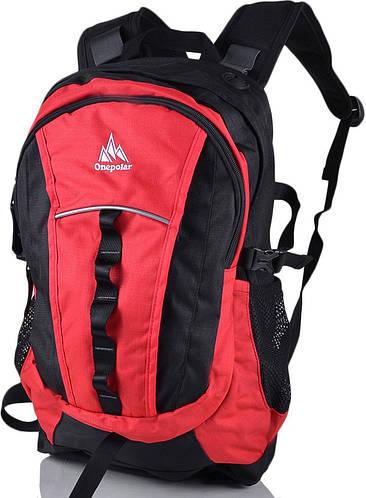 Рюкзак молодежный городской 22 л. Onepolar (Ванполар) W1300-red красный