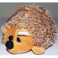 Мягкая игрушка Брелок Ёжик коричневый