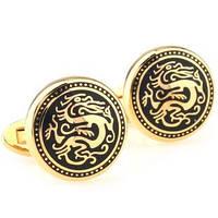 Запонки мужские Золотой дракон