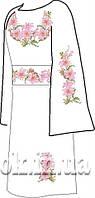 Заготовка вышивки бисером на домотканом полотне. Женское платье ВПЖП-11