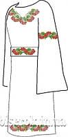 Заготовка вышивки бисером на домотканом полотне. Женское платье ВПЖП-24