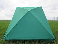 Зонт торговый  2х3 м с серебряным напылением прямоугольный зеленый, синий