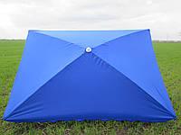 Зонт торговый  2х3 м с серебряным напылением  прямоугольный, синий, зеленый, синий