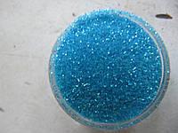 Песок для дизайна ногтей светло голубой
