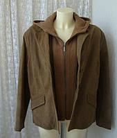 Куртка женская натуральная кожа капюшон батал р.52-54 от Chek-Anka
