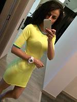 Платье с рукавом до локтя