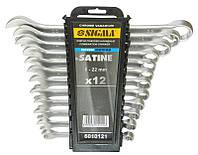 Ключи 6010121 Sigma комбинированные, 6 - 22 мм, набор 12 шт.
