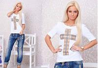 Женская футболка с крестом