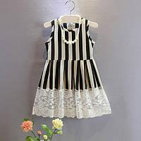 Нарядное детское платье в полоску
