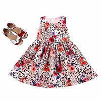 Нарядное детское платье, леопардовый принт