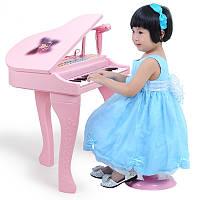 Музыкальное пианино со стульчиком