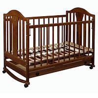 Детская кроватка «Napoleon New» с ящиком темный орех