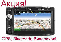 Магнитола EasyGo C100 с GPS + Bluetooth + Видеовход!  Суперцена!