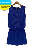 Женское элегантное кружевное шифоновое платье туника блузка футболка 2015 летнее легкое сукня