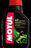 Масло моторное для мотоциклов полусинтетическое MOTUL 5000 4T SAE 10W40 (1L) 104054