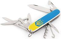 Складной швейцарский нож офицера Victorinox Climber 13703.7R3 голубой с желтым