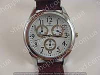 Мужские наручные часы Perfect А8077G серебро с коричневым