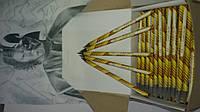 """Грифельный карандаш ЧЕРНОГРАФИТОВЫЙ """"СТАРТ 2м-4м"""",для художников"""