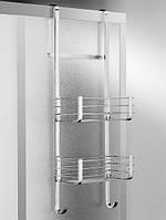 Полочка-сетка двойная, навесная на душевую кабину, для ванной комнаты  Colombo B9634  хром