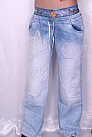 Женские свободные джинсы на резинке ТУРЦИЯ