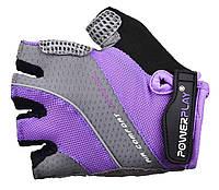Женские перчатки для велосипеда с двойным гелем Power Play. Сиреневый