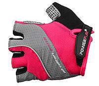 Женские перчатки для велосипеда с гелевыми подушками Power Play. Розовый