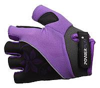 Женские перчатки для велосипеда кожаные Power Play. Сиреневый
