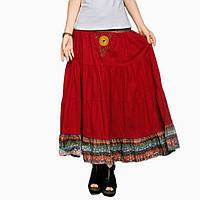 Индийская юбка Бордо