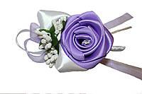 Бутоньерка для молодых лиловая роза